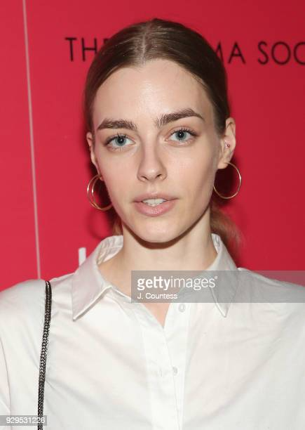 Model Paula Magyar poses for a photo at the screening of 'Love Simon' hosted by 20th Century Fox Wingman at The Landmark at 57 West on March 8 2018...