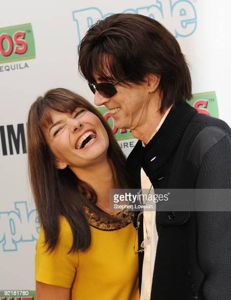 "Model Paulina Poriskova and husband musician Rick Ocasek attend the ""Bon Jovi: When We Were Beautiful"" New York premiere at the SVA Theater on..."