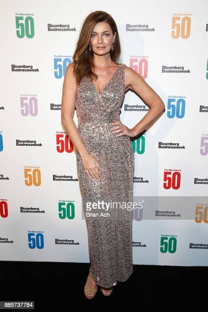 Model Paulina Porizkova attends 'The Bloomberg 50' Celebration at Gotham Hall on December 4 2017 in New York City