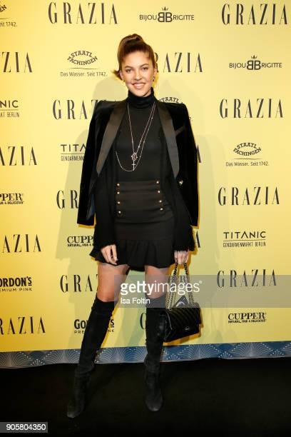 Model Paulina Swarovski attends the Grazia Fashion Dinner at Titanic Deluxe Hotel on January 16, 2018 in Berlin, Germany.