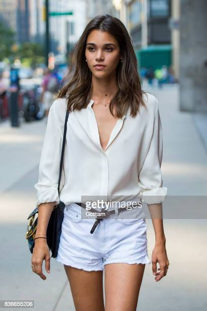 Model Pauline Hoarau attends call backs for the 2017 Victoria's Secret Fashion Show in Midtown on August 21 2017 in New York City