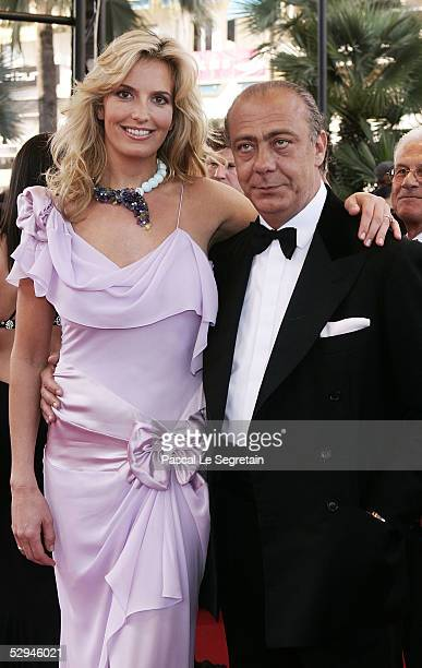 Model Penny Lancaster and Fawaz Gruosi attend the screening of Peindre Ou Faire L'Amour at the Palais during the 58th International Cannes Film...