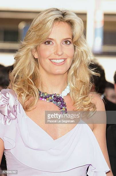 Model Penny Lancaster attends the screening of Peindre Ou Faire L'Amour at the Palais during the 58th International Cannes Film Festival May 18 2005...
