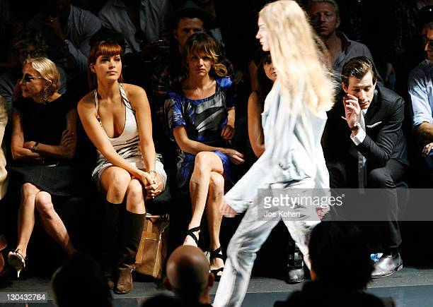 Model Petra Nemcova actress Juliette Lewis model Daisy Lowe and DJ Mark Ronson attends Diesel Black Gold Spring 2009 at The Tent Bryant Park on...