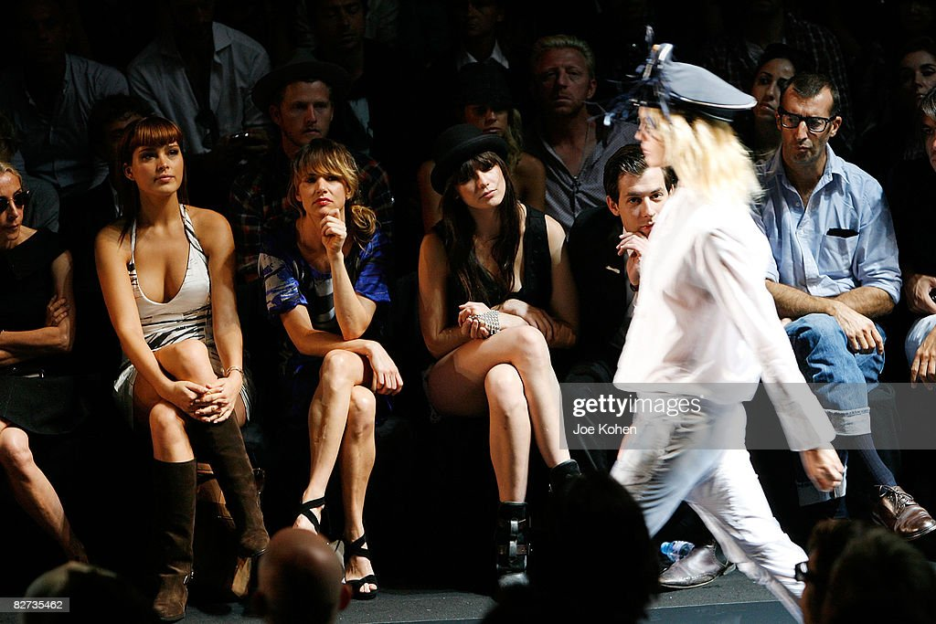 Mercedes-Benz Fashion Week Spring 2009 - Diesel - Front Row and Backstage : News Photo