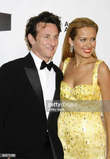 Model Petra Nemcova and actor Sean Penn attend the 16th Annual Elton John AIDS Foundation Oscar Party at the Pacific Design Center on February 24...