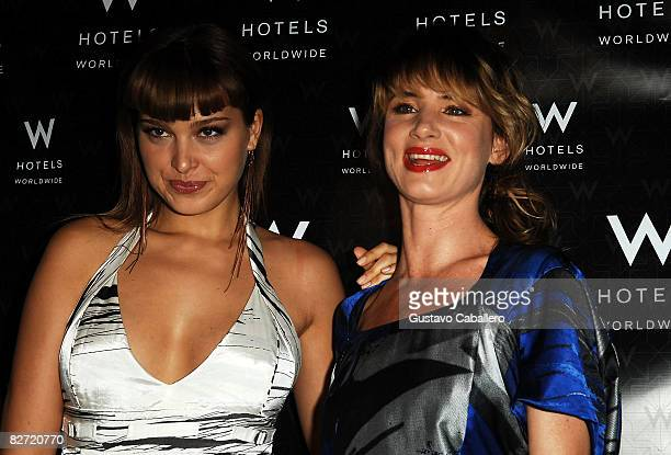 Model Petra Nemcova and actress Juliette Lewis at the tents in Bryant Park during MercedesBenz Fashion Week on September 8 2008 in New York City