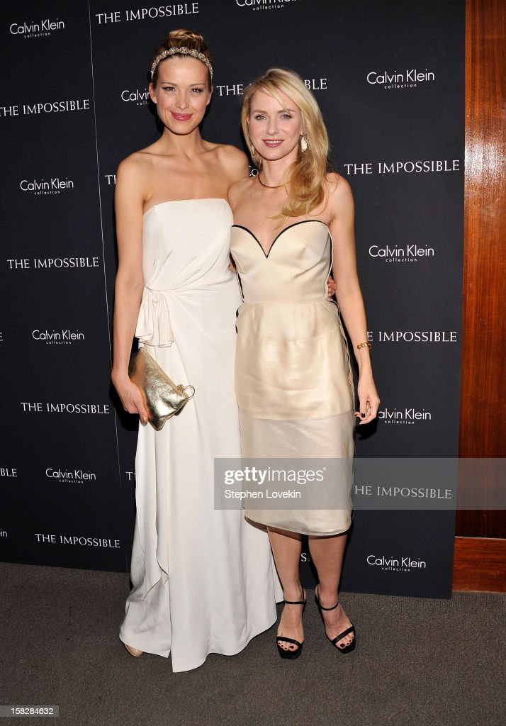 Model Petra Nemcova and actress Naomi Watts attend 'The Impossible' New York special screening at Museum of Art and Design on December 12, 2012 in New York City.