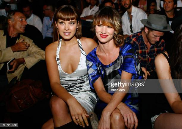 Model Petra Nemcova and Juliette Lewis attend the Diesel Spring 2009 fashion show during MercedesBenz Fashion Week at The Tent Bryant Park on...