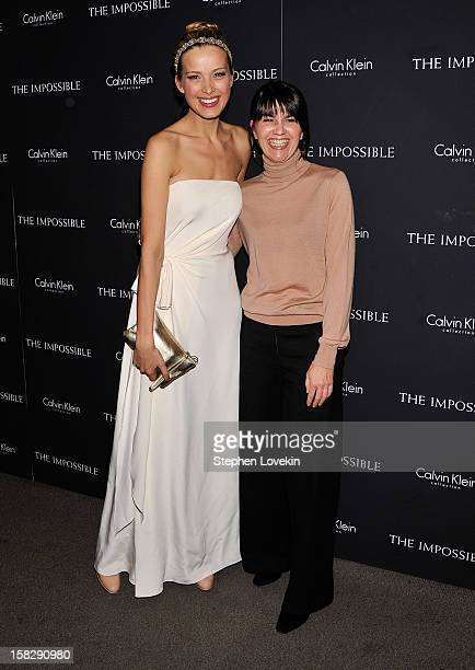Model Petra Nemcova and Maria Belon attend The Impossible New York special screening at Museum of Art and Design on December 12 2012 in New York City