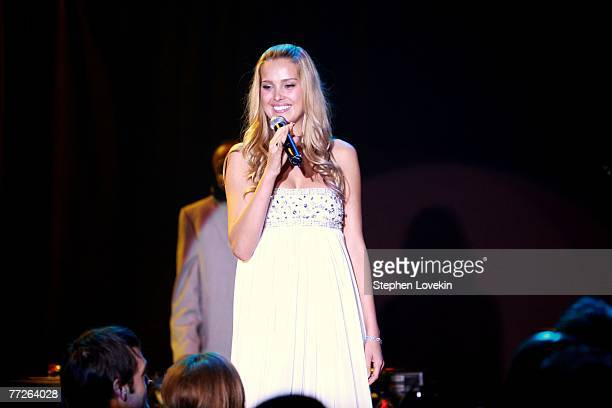 Model Petra Nemcova appears onstage at the Heart Of Gold Ball to benefit The Happy Hearts Fund at Cipriani's Wall street location on October 10 2007...