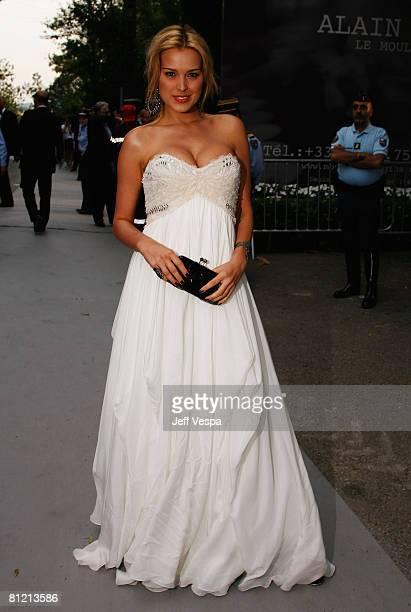 Model Petra Nemcova arrives at amfAR's Cinema Against AIDS 2008 benefit held at Le Moulin de Mougins during the 61st International Cannes Film...