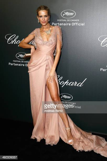 Model Petra Nemcova arrives to the Chopard Backstage Dinner Afterparty at the CannesMandelieu Aerodrome during the 67th Annual Cannes Film Festival...