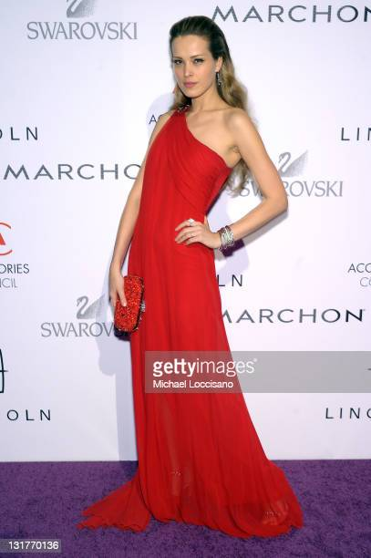 Model Petra Nemcova attends Accessories Council 15th Annual ACE Awards at Cipriani 42nd Street on November 7 2011 in New York City