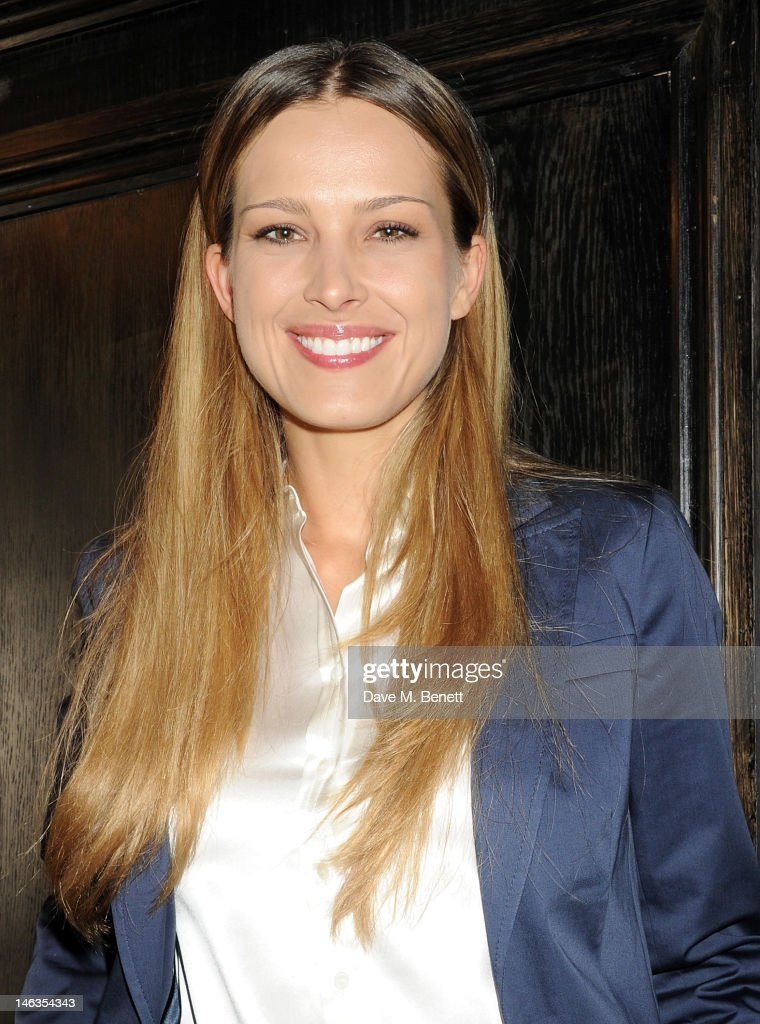 Model Petra Nemcova attends as Tommy Hilfiger hosts a cocktail party to celebrate the launch of London Collections: Men at The Scotch of St. James London on June 14, 2012 in London, England.