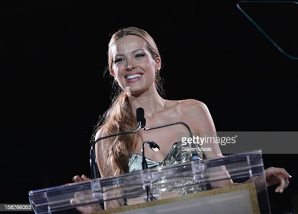 Model Petra Nemcova attends attends the 2012 Happy Hearts Fund Land Of Dreams Mexico Gala at Metropolitan Pavilion on December 11 2012 in New York...