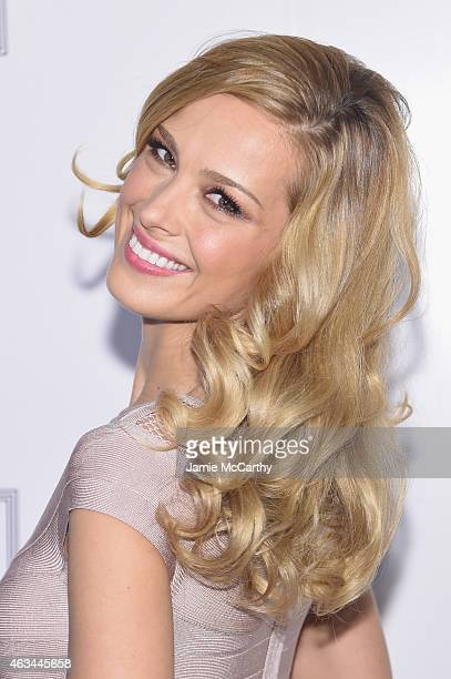Model Petra Nemcova attends Herve Leger By Max Azria at The Theatre at Lincoln Center on February 14 2015 in New York City