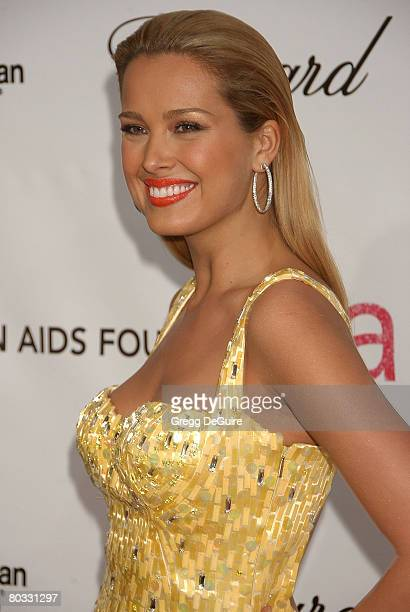 Model Petra Nemcova attends the 16th Annual Elton John AIDS Foundation Oscar Party at the Pacific Design Center on February 24 2008 in West Hollywood...