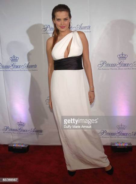 Model Petra Nemcova attends the 2008 Princess Grace awards gala at Cipriani 42nd Street on October 15 2008 in New York City