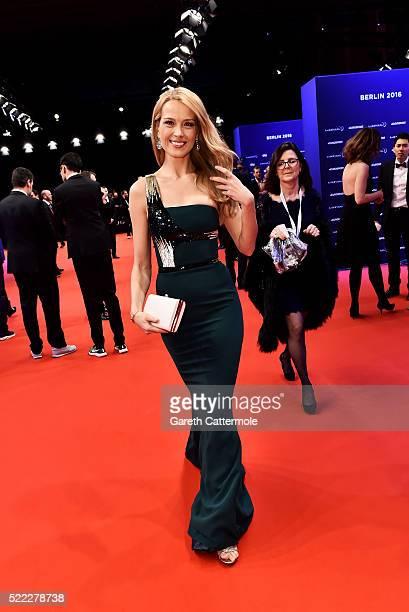 Model Petra Nemcova attends the 2016 Laureus World Sports Awards at Messe Berlin on April 18 2016 in Berlin Germany