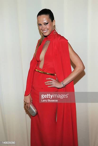 Model Petra Nemcova attends the 20th Annual Elton John AIDS Foundation Academy Awards Viewing Party at The City of West Hollywood Park on February 26...
