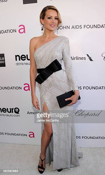 Model Petra Nemcova attends the 21st Annual Elton John AIDS Foundation Academy Awards Viewing Party at West Hollywood Park on February 24 2013 in...