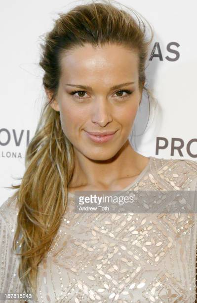 Model Petra Nemcova attends the Atelier Pronovias 2014 Show hosted by Petra Nemcova at St James Church on November 12 2013 in New York City