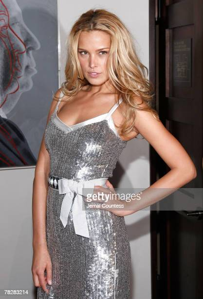 Model Petra Nemcova attends the Dolce Gabbana's The One Fragrance Launch and Private Dinner at The Grammercy Park Hotel on december 4 2007 in New...