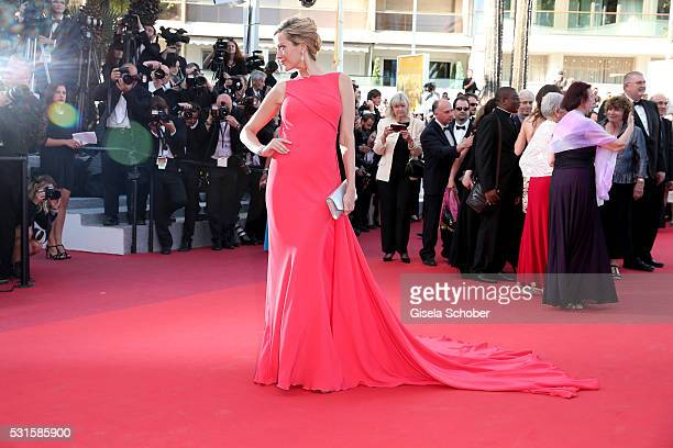 """Model Petra Nemcova attends the """"From The Land Of The Moon """" premiere during the 69th annual Cannes Film Festival at the Palais des Festivals on May..."""