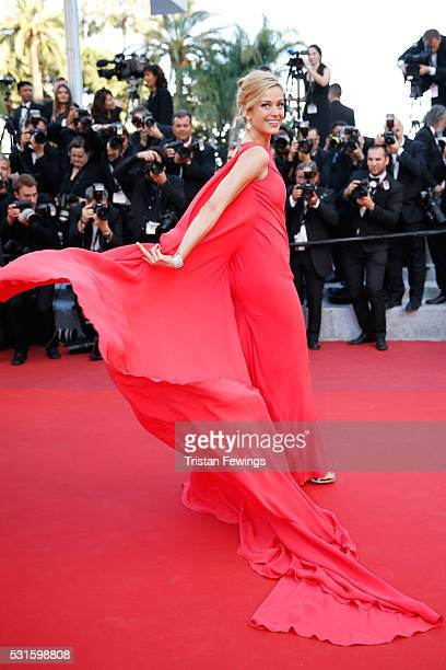 Model Petra Nemcova attends the From The Land Of The Moon premiere during the 69th annual Cannes Film Festival at the Palais des Festivals on May 15...