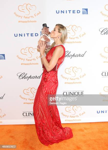 Model Petra Nemcova attends the Happy Hearts Fund 10 year anniversary tribute of the Indian Ocean tsunami at Cipriani 42nd Street on June 19 2014 in...