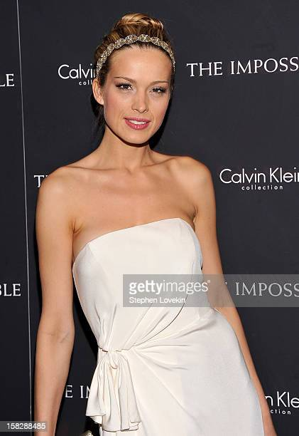 Model Petra Nemcova attends 'The Impossible' New York special screening at Museum of Art and Design on December 12 2012 in New York City