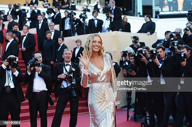 Model Petra Nemcova attends the Premiere of 'Behind The Candelabra' during the 66th Annual Cannes Film Festival at the Palais des Festivals on May...
