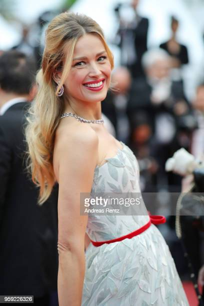 Model Petra Nemcova attends the screening of 'Burning' during the 71st annual Cannes Film Festival at Palais des Festivals on May 16 2018 in Cannes...