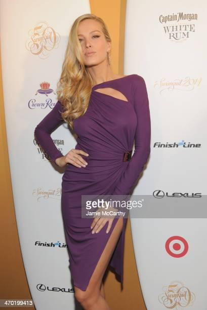 Model Petra Nemcova attends the Sports Illustrated Swimsuit 50 Years of Swim in NYC Celebration at the Sports Illustrated Swimsuit Beach House on...