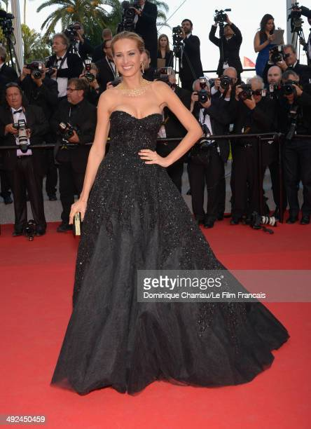Model Petra Nemcova attends the Two Days One Night premiere during the 67th Annual Cannes Film Festival on May 20 2014 in Cannes France