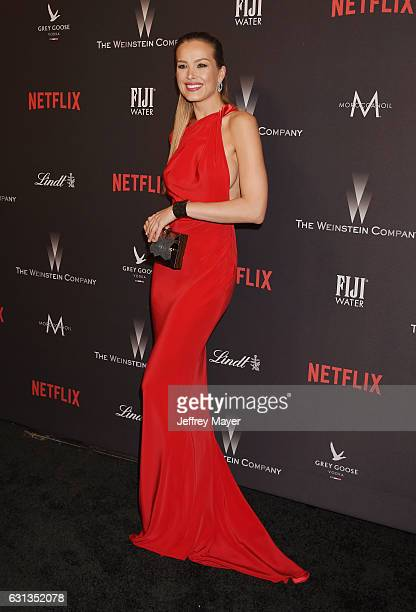 Model Petra Nemcova attends The Weinstein Company and Netflix Golden Globe Party presented with FIJI Water Grey Goose Vodka Lindt Chocolate and...
