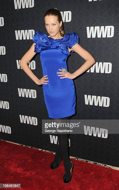 Model Petra Nemcova attends the WWD @ 100 Anniversary Gala at Cipriani 42nd Street on November 2 2010 in New York City