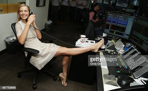 Model Petra Nemcova participates in the annual Charity Day hosted by Cantor Fitzgerald and BGC at Cantor Fitzgerald on September 11 2015 in New York...