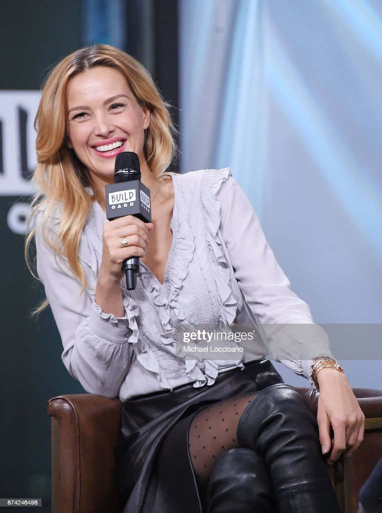 Model Petra Nemcova visits Build Studio to discuss the initiative she co-founded, Hands And Hearts - Smart Response, on November 14, 2017 in New York City.