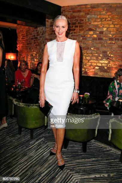 Model Petra van Bremen during the host of Annabelle Mandengs Ladies Dinner at Hotel Zoo on July 2, 2017 in Berlin, Germany.