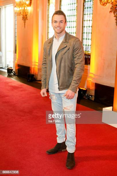 Model Philipp Stehler attends the premiere of the musical 'Der Gloeckner von Notre Dame' on April 9 2017 in Berlin Germany