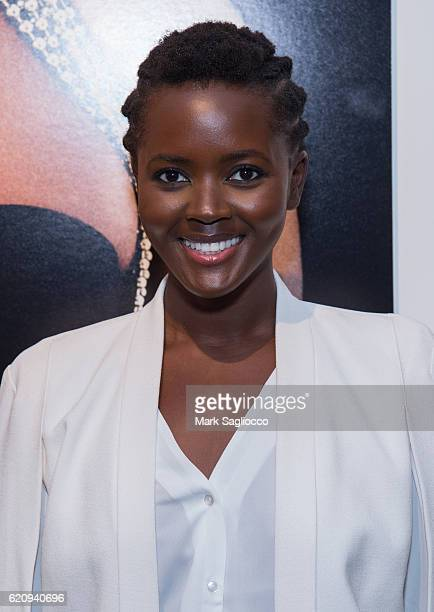 Model Philomena Kwao attends Alexi Lubomirski's 'Diverse Beauty' Book Launch Exhibition Opening at Milk Gallery on November 3 2016 in New York City