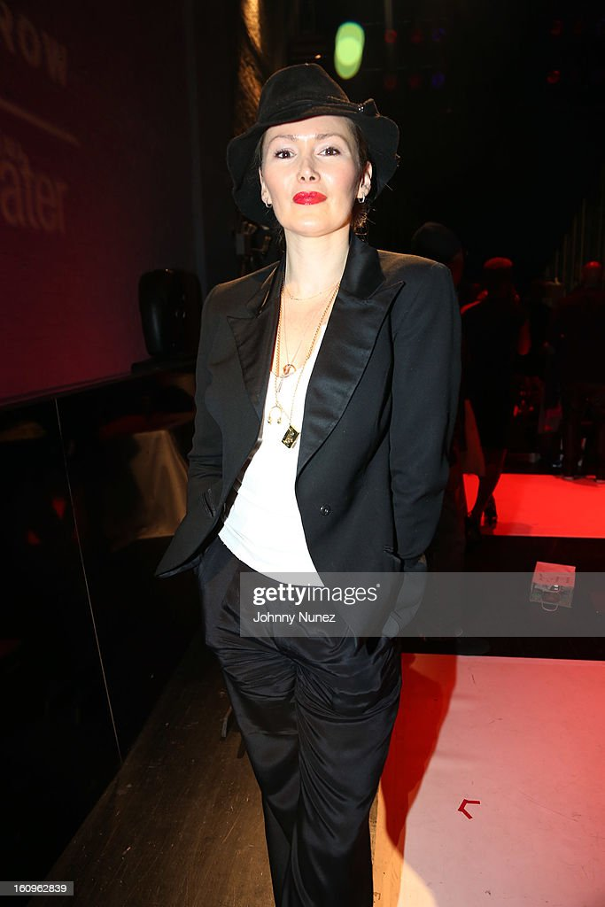 Model, photographer, writer, and publisher Tatijana Shoan attends Harlem's Fashion Row Presentation during Fall 2013 Mercedes-Benz Fashion Week at The Apollo Theater on February 7, 2013 in New York City.