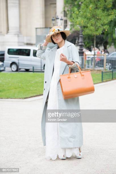 Model Phyllis wears all vintage on day 3 of Paris Haute Couture Fashion Week Autumn/Winter 2016 on July 5 2016 in Paris France