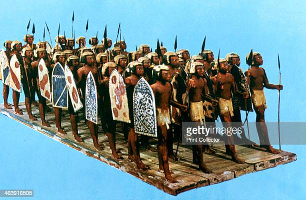 Model Pikemen Tomb of Mesehti 12th Dynasty Natives of the nome of Asiu Egyptian Museum Cairo