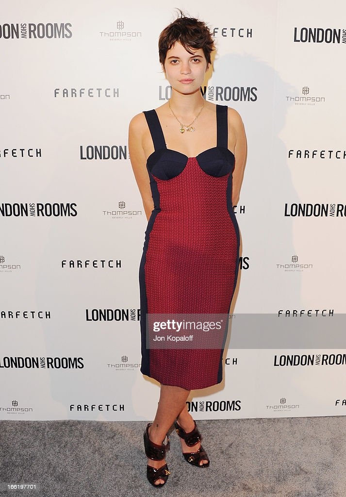 Model Pixie Geldof arrives at the British Fashion Council Celebrates 'London Show Rooms LA' at Thompson Hotel on April 9, 2013 in Beverly Hills, California.