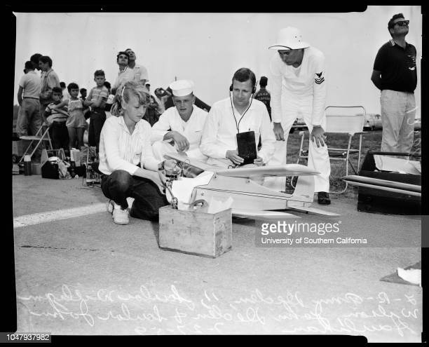 Model plane meet 27 July 1959 Randy Wagner 12 yearsLA BerkaLieutenant Commander EC McCollonRobert MasonAnn Deden 11 yearsWilliam Wilson John Haulihan...