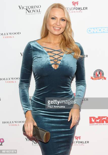 Model / Playboy Playmate Irina Voronina attends the 3rd annual Babes In Toyland pet edition at Boulevard3 on March 30 2017 in Hollywood California