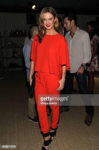 Model Polina Proshkina attends the Artsy celebration for CalArts' John Baldessari Studios with Audi Valentino and Vhernier at Soho Beach House on...